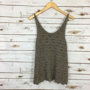 American Eagle Crotchet Lightweight Tank